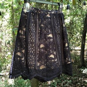 Xhilaration Black Lace Skirt